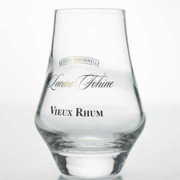 Verre Cognac Taster avec décor textuel Lucien FOHINE en marquage à chaud doré